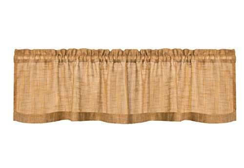 Heritage Lace Homespun Valance, 53 by 16-Inch, Natural