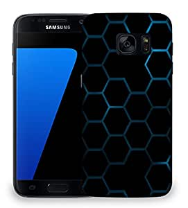 Snoogg Honeycomb systemology Designer Protective Back Case Cover For Samsung Galaxy S7