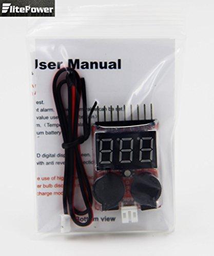 lipo battery voltage tester low voltage buzzer alarm manual