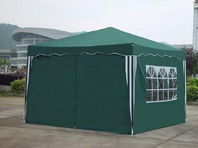 Falt Pavillon 3 x 3 m in grün mit 4 Seitenteilen von Kronenburg ® auf Gartenmöbel von Du und Dein Garten