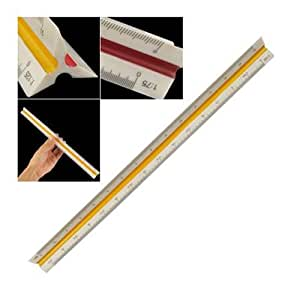TOOGOO(R) 1:20 1:25 1:50 1:75 1:100 1:125 Plastic Triangular Scale Ruler