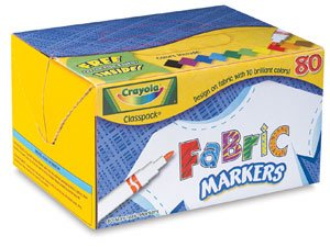 cheap crayola fabric markers fabric markers set of 80 discount