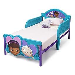 Disney Junior Adorable Doc McStuffins 3D Toddler Bed for Kids