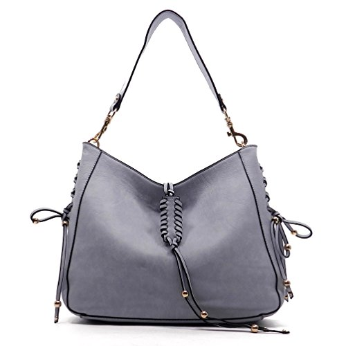 Le Miel Tassel Charm Hobo Shoulder Bag Womens Large Handbag Purse (Blue) (Miel Hand Bag compare prices)