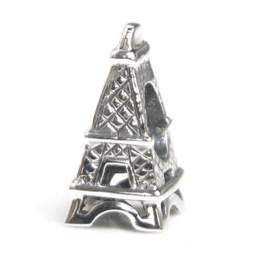 .925 Sterling Silver Paris Eiffel Tower Travel Tourist Scenery Bead For Pandora, Troll Chamilia Biagi European Story Charm Bracelet