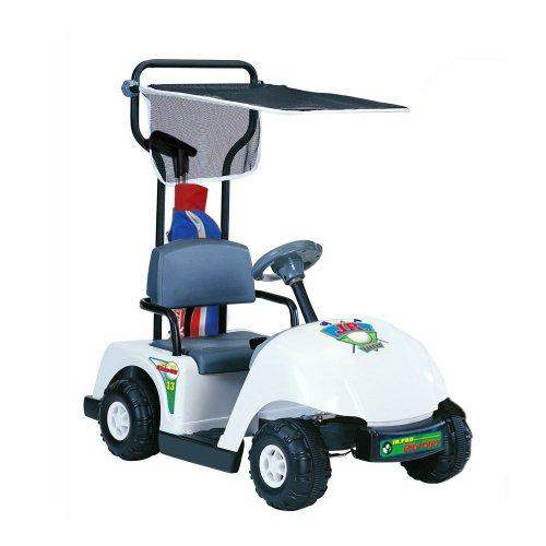 Kid-Motorz-Junior-6V-Pro-Golf-Cart-Ride-On-White