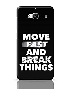 PosterGuy Redmi 2 Case Cover - Move Fast And Break Things   Designed by: PosterGuy