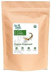 Organic Dragonwell Green Tea - Beautifully Flattened Whole Leaves - Smoky Taste - Antioxidant - Certified Organic - GMO Free - Bulk Loose Leaf - by The Tea Company - 4oz
