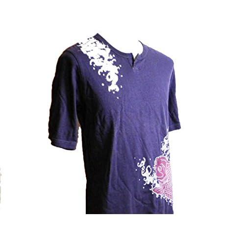 (タケオキクチ) TAKEO KIKUCHI 半袖Tシャツ 和柄 紫鯉 サイズL 1/2