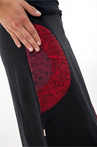 Jupe-longue-psychedelic-nepali-dream-noir-rouge-hiver