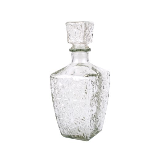 Creative Co-Op Glass Decanter With Stopper, 9.25-Inch