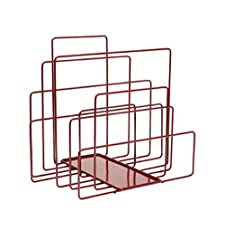 Bioecoshop Portariviste Ram Covo By Bioeco Mis 35 x 48 Cm Altezza 39 Cm Tinta Rosso Vino Made In Italy