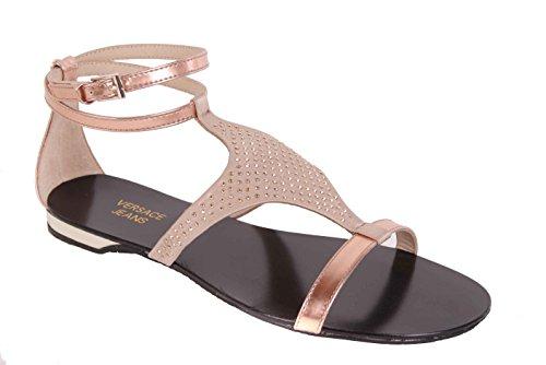 Versace Sandali Beige-Oro Bs29 Strappy Delle Donna - Beige / oro, 37