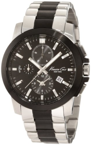 Kenneth Cole New York Men's KC9099 Dress Sport Black Dial Chronograph Bracelet Watch