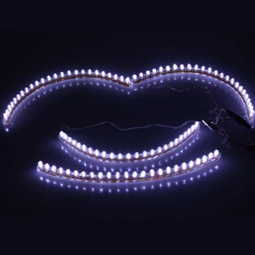 Foxnovo 4Pcs 24Cm Flexible Waterproof Led Strip Lights Decorative Lights For Car /Motorcycle /Garden /Room (White Light)