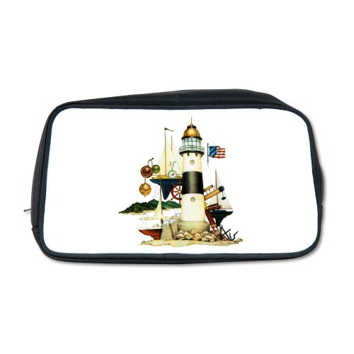 Artsmith, Inc. Toiletry Travel Bag Nautical Vintage Lighthouse Telescope Steering Wheel Anchor And Ships