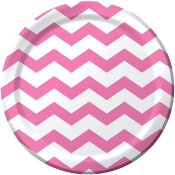 Candy Pink Chevron Stripe