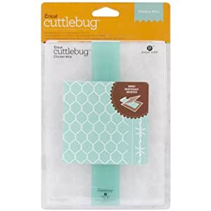 Cuttlebug Cricut Embossing Folder and Border, 5 by 7-Inch, Chicken Wire