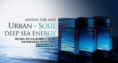 KOREAN COSMETICS, Beautynet_ Missha, For Men Urban Soul Deep Sea energy 2-piece set.(Skin 120mL + Lotion 120mL + (Gift) Skin 30ml + Lotion 30ml) (high moisture, nutrition, mild, skin texture, men's cosmetics, Homme)[001KR]