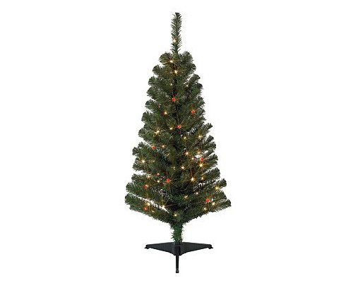 4ft Pre-lit Noble Fir Tree: 4 Foot Pre-Lit Artificial Fir
