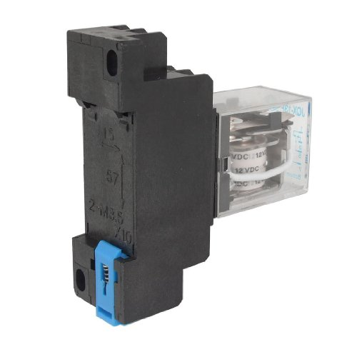 Toogoo(R) 12V Dc Coil Power Relay Dpdt Ly2Nj Hh62P-L Jqx-13F 10A With Ptf08A Socket Base