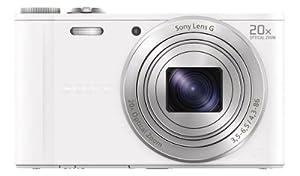 Sony DSC-WX300W Appareil Photo Numérique Full HD 3D 18 Mpix Zoom optique: 20x Blanc