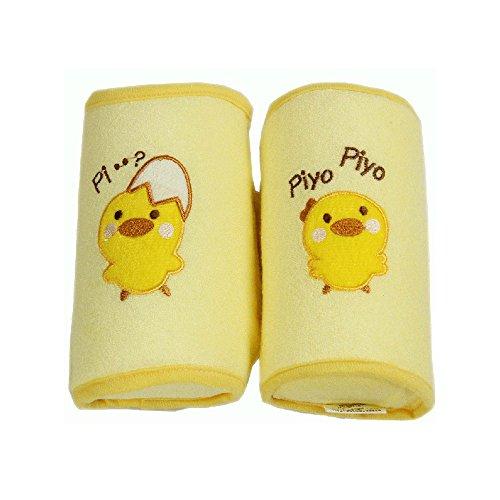 kangbaobei Baby Boy Girl infant Bedding Cotton Flat Head Sleeping Anti-roll Pillow Yellow, Flexible Sleeping Safety Baby Pillows Cotton Expandable Positioner Head Rest for babies between 0-6 months