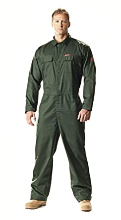 Benchmark Men's Flame Resistant Feather Weight Coverall, HRC 1, Green, XL