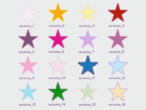 Imagen 2 de Pegatina decorativa con 26 estrellas (1 de 20 cm, 5 de 10, 5 de 7, 5 de 5, 5 de 3, 5 de 2)-Dibujo F8-Variante 5