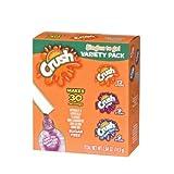 Crush Singles Berry Punch. Grape, Orange To Go Sugar Free Drink Mix Variety Pack 2.64 oz 30 sticks