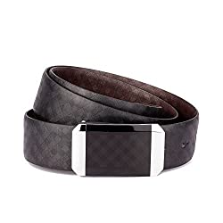 Ohm Leather Men's Belts (B00T0Wxume_Black Brown)