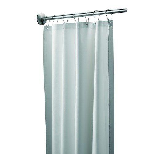 bradley 9537 487200 vinyl antimicrobial shower curtain 48 width x 72 length white business. Black Bedroom Furniture Sets. Home Design Ideas