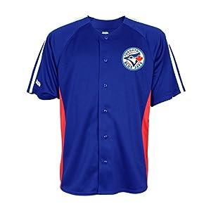 MLB Toronto Blue Jays Men's Button Down Fashion Jersey, Royal, XX-Large