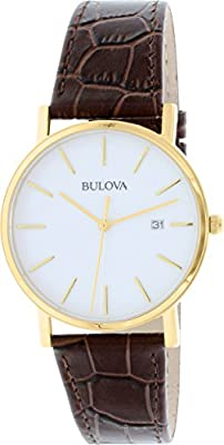 Bulova Men's 97B100 Strap White Dial Watch from Bulova
