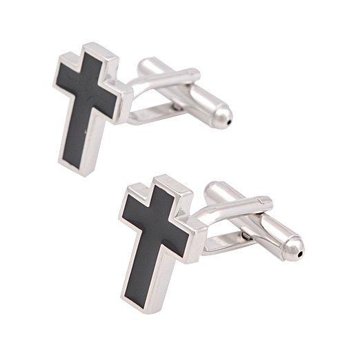NexgenCover I Love Dad Cufflinks Hero Cuff-links Red Black Cufflinks (Black Christian Cross Cufflinks)