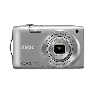 Nikon Coolpix S3300 16-Megapixel Digital Camera | Silver