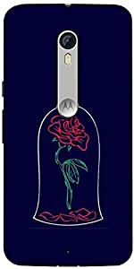 Snoogg Bell Rose Designer Protective Back Case Cover For Motorola Moto X Style
