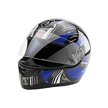 Bottari Moto 64171 Casque Ness, Noir/Bleu, Taille : XL