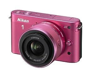 Nikon 1 J2 Kit compact hybride 10,1 Mpix + Objectif 1 Nikkor VR 10-30 mm f/3.5-5.6 Rose Lilas