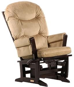 Dutailier Multiposition, Recline, Round Back Cushion Modern Glider, Light Brown Microfiber