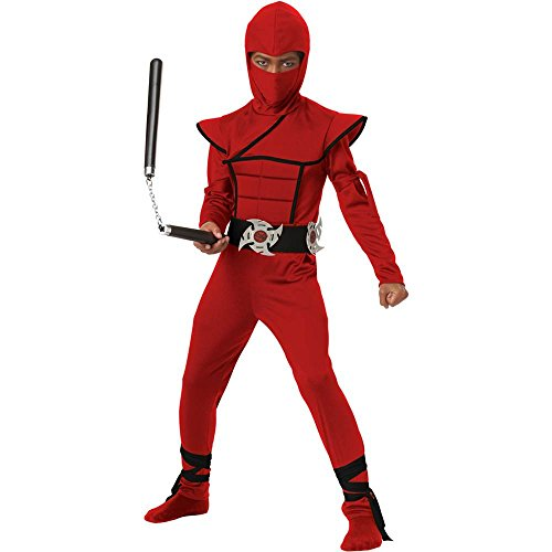 Stealth Red Ninja Kids Costume