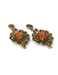 Aza Collections Dangle And Drop Earring For Women - B00QV8O6Z0