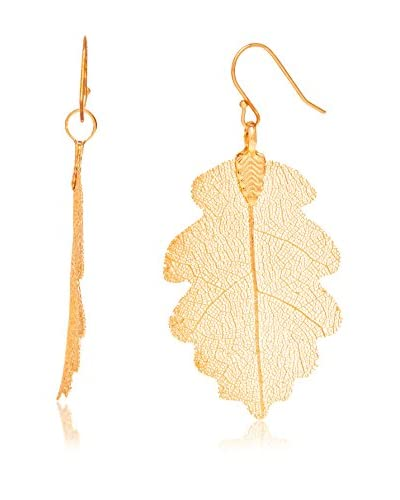 Ana Natural Leaves Pendientes HD004 Oro