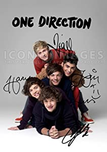 One Direction Poster Photo Signed Pp X5 Niall Horan Harry Styles Zayn Louis Liam A4 21cm X 297cm by Iconic Images