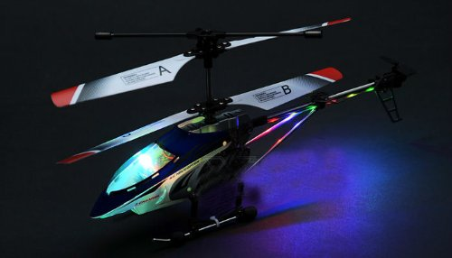 BEGINNERS 32CM METAL 3Ch Micro RC Remote Control 333 Helicopter w/Gyro - FULL METAL STRUCTURE WITH GORGEOUS LED LIGHTS (COLORS VARY SENT AT RANDOM)
