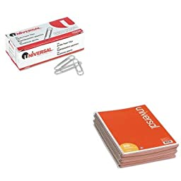 KITUNV48005UNV72220 - Value Kit - Universal Wirebound Message Books (UNV48005) and Universal Smooth Paper Clips (UNV72220)