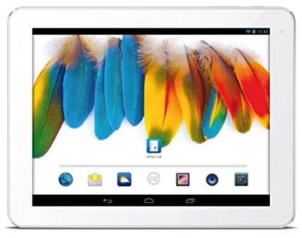 "Odys IRON - 24.6 cm (9.7"") Tablet PC (1.6 G Hz Rockchip Quad Core processor, 2GB RAM, 16GB HDD, HDMI, WiFi, Android 4.2.x, Brilliant HD IPS display (2048 x 1536), Bluetooth 4.0 OTA) - Blanc / Alu"