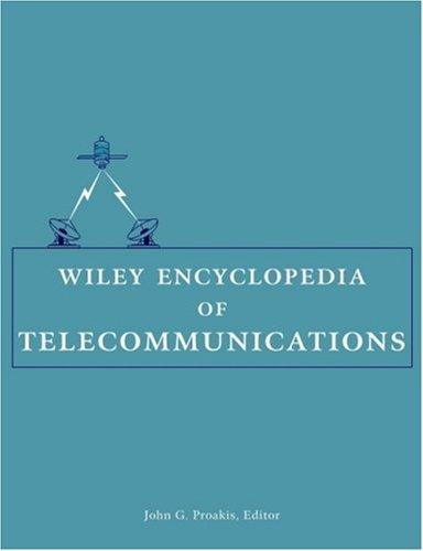 Wiley Encyclopedia of Telecommunications,