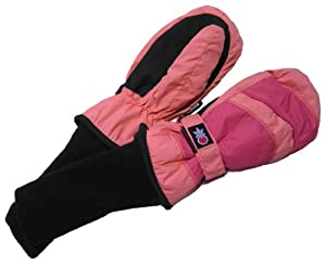 SnowStoppers Kid's Waterproof Stay On Winter Nylon Mittens Small / 1-3 Years Pink / Fuschia