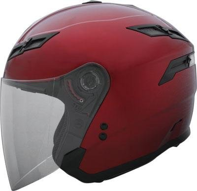 G Max Gm67 Open Face Motorcycle Helmet Candy Red Extra